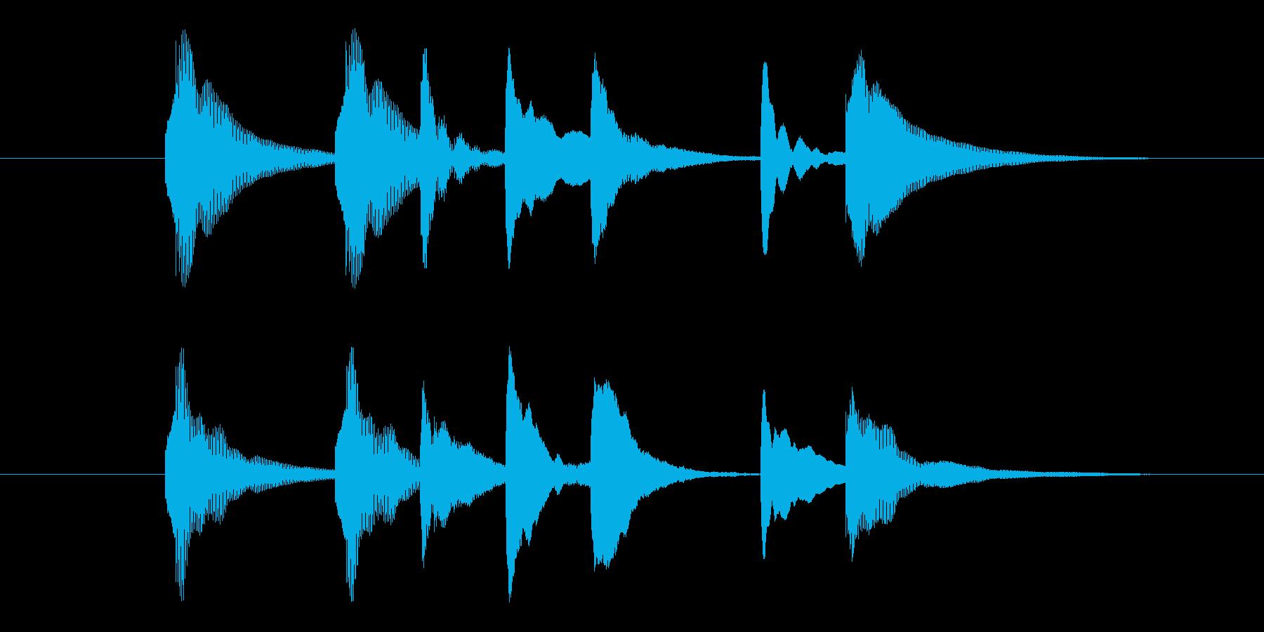木琴の癒しジングルの再生済みの波形