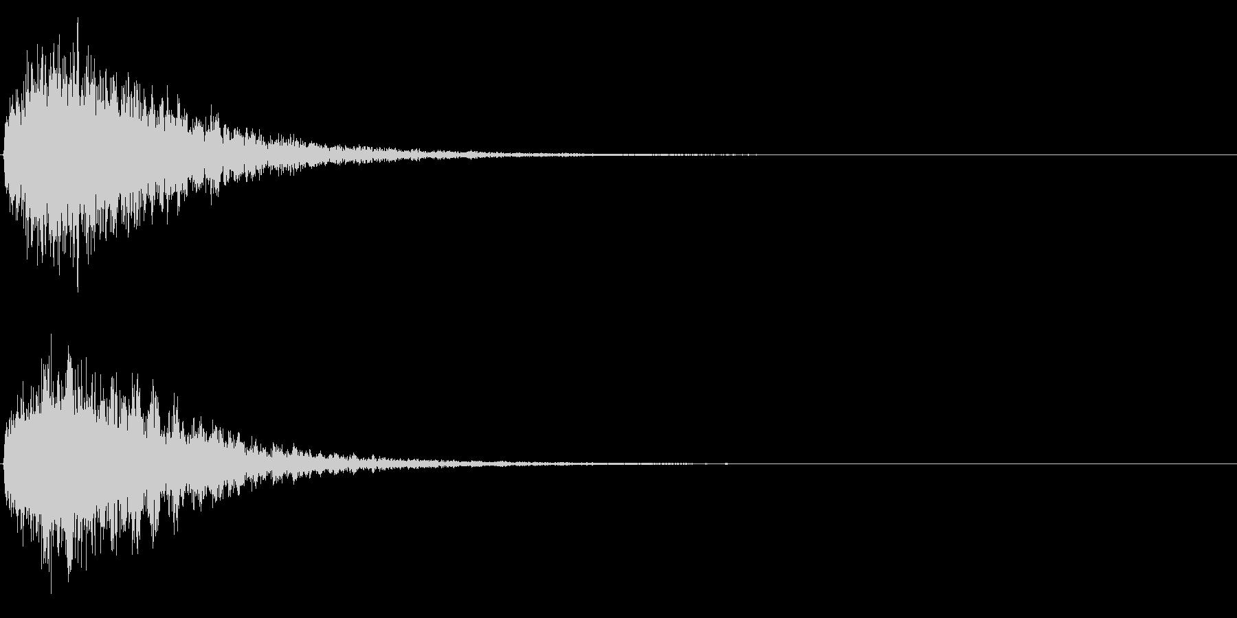ゲームスタート、決定、ボタン音-113の未再生の波形