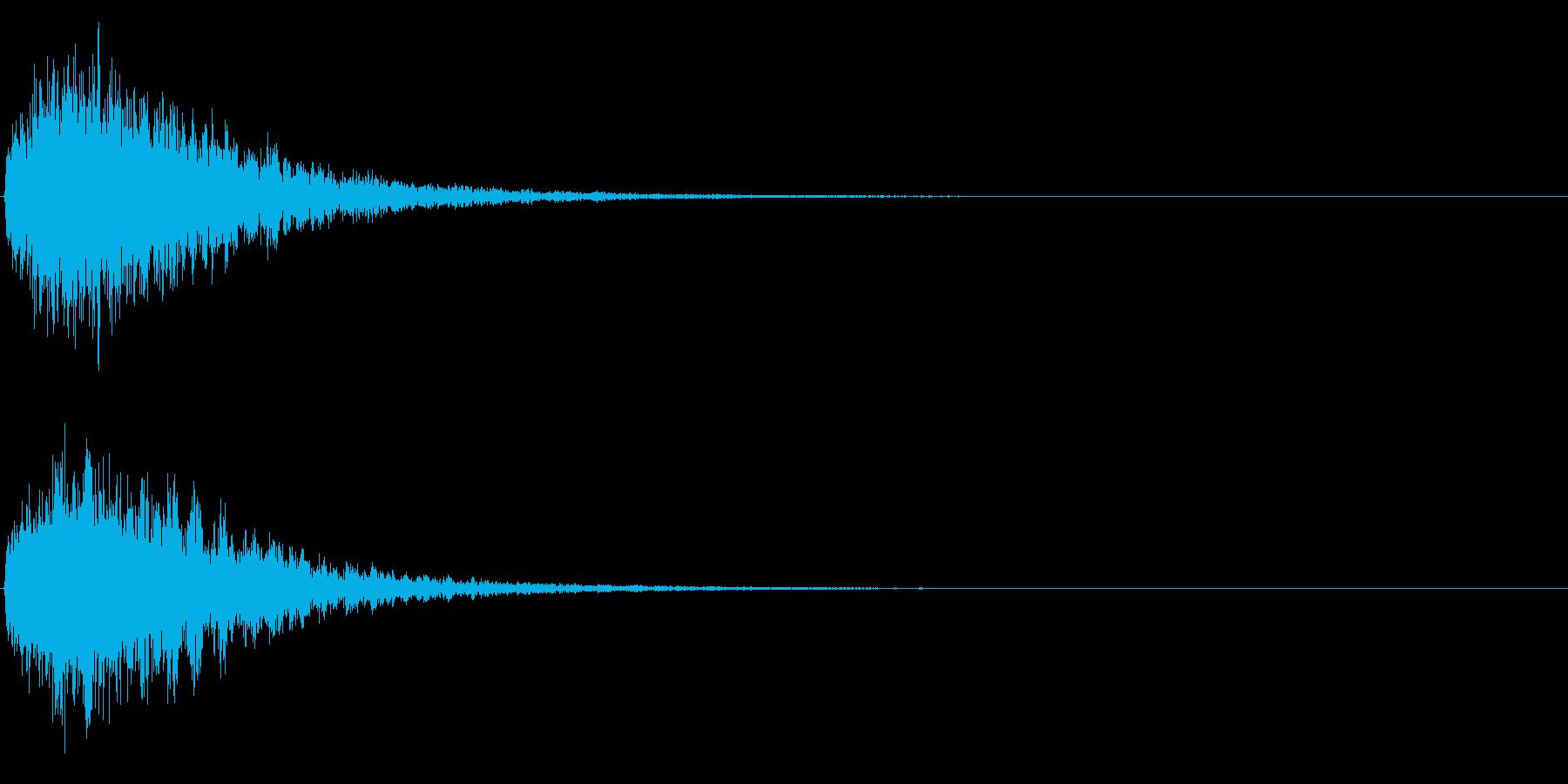 ゲームスタート、決定、ボタン音-113の再生済みの波形