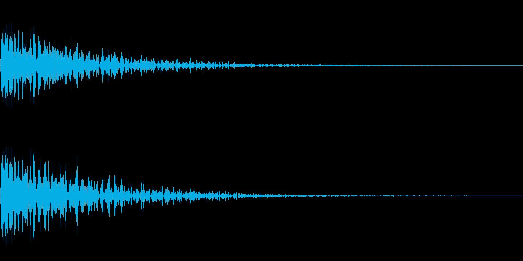 ジャン!(エラー音)の再生済みの波形