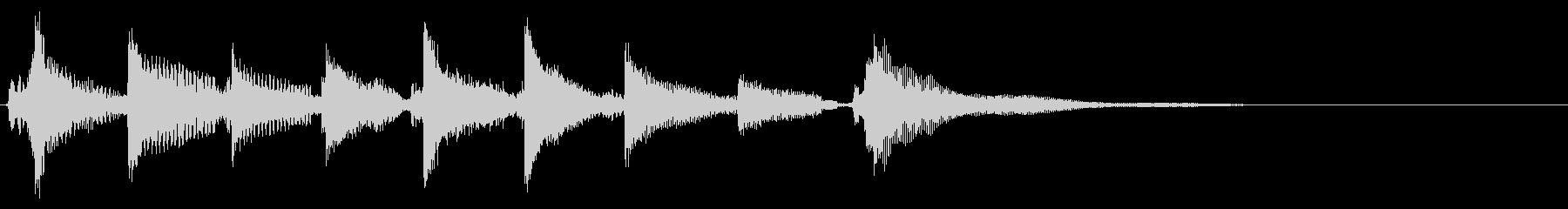 ★ウクレレ、アコギの生音ジングル/ハワイの未再生の波形