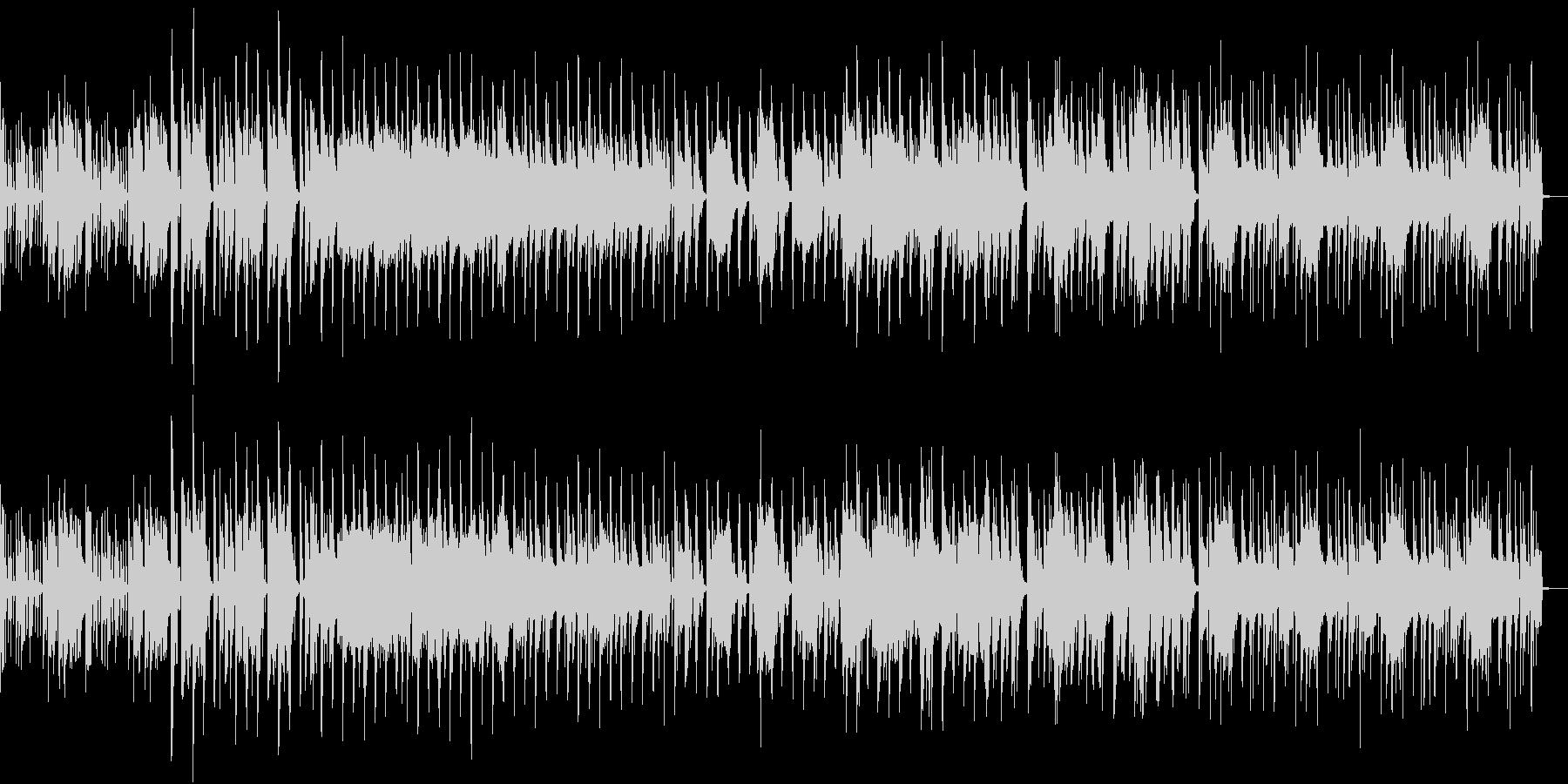 ファンキーな電子音楽の未再生の波形