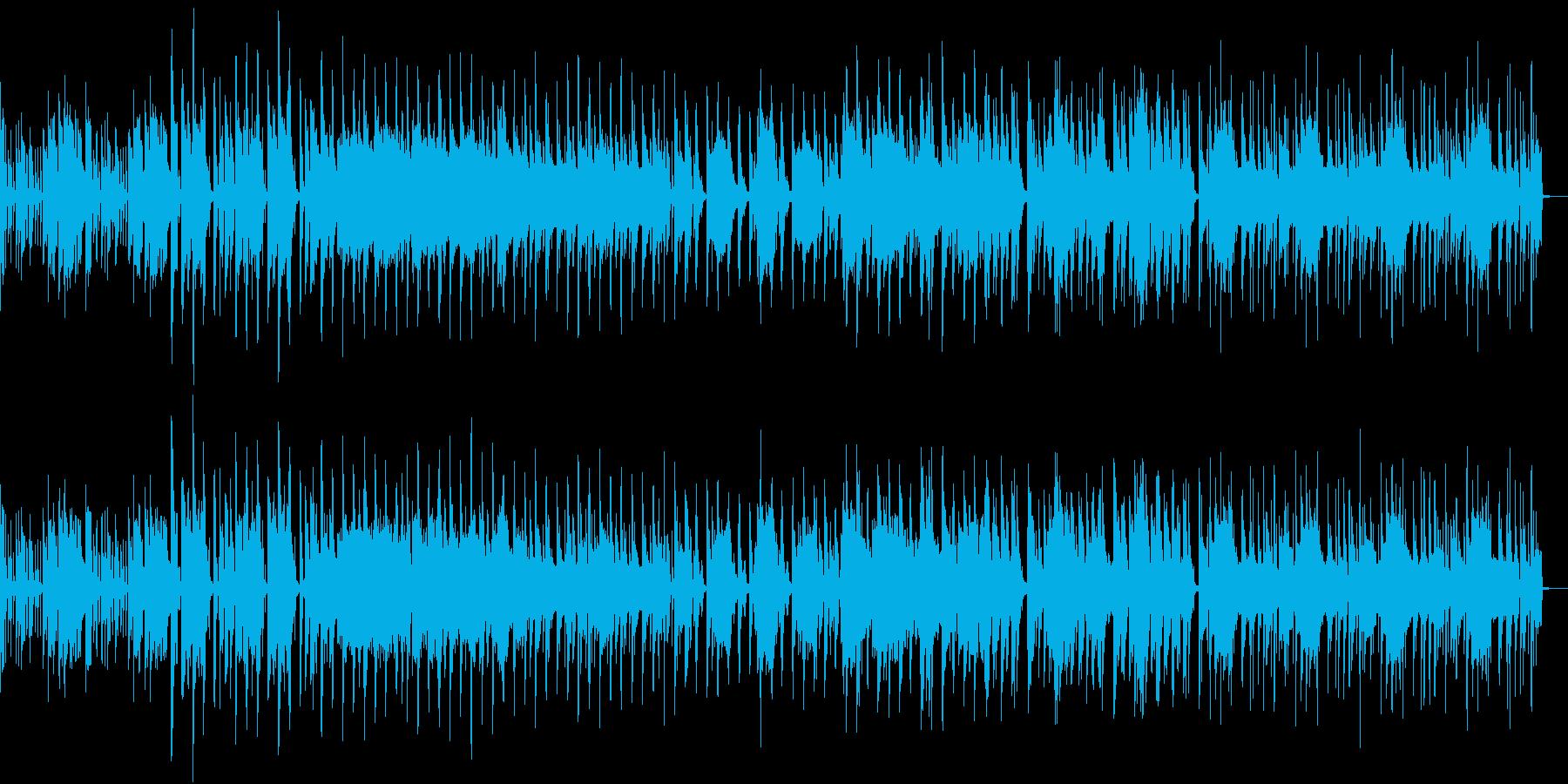 ファンキーな電子音楽の再生済みの波形