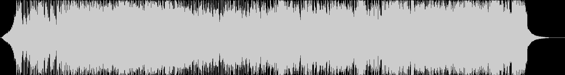 和楽器と掛け声のへヴィなロック曲の未再生の波形