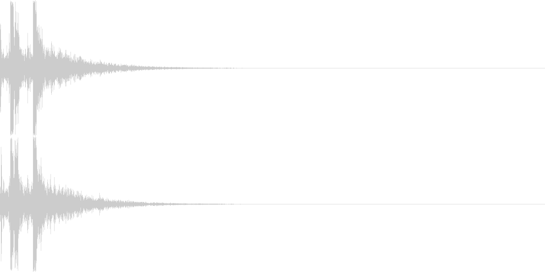 カチャリ(ダイアログを開く_03)の未再生の波形