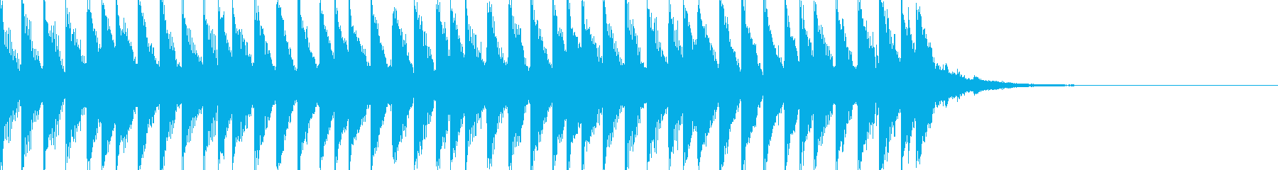 SimpleなSound Logoの再生済みの波形