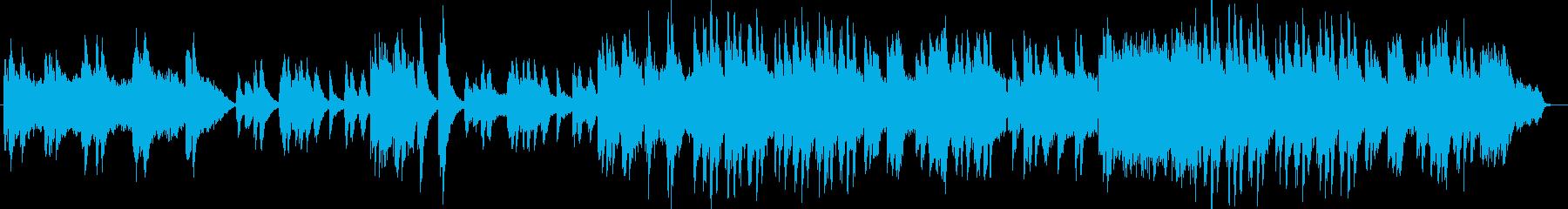 感動的でスローテンポなピアノの楽曲の再生済みの波形