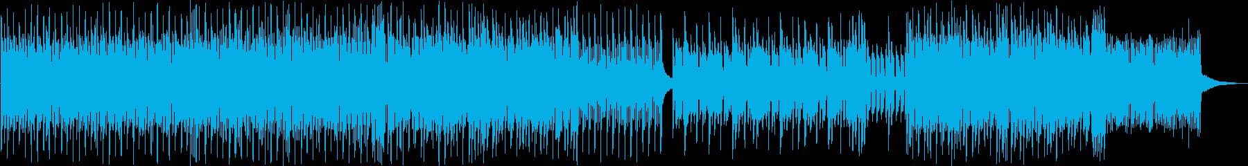 シンセと生楽器が融合するEDMの再生済みの波形
