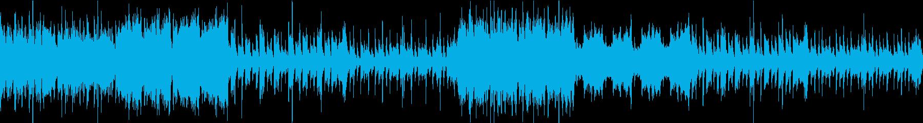 ピアノとストリングス主体のホラー系BGMの再生済みの波形