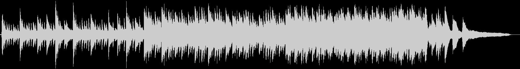 クリアな水と月をイメージしたピアノ曲の未再生の波形
