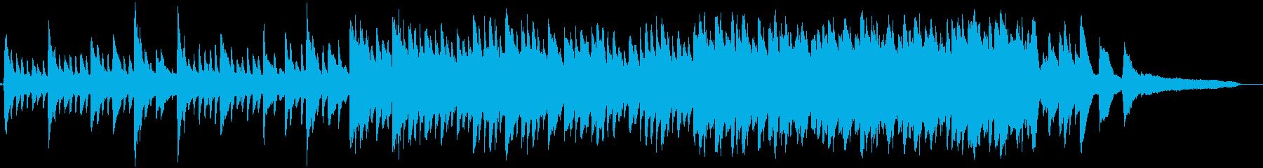 クリアな水と月をイメージしたピアノ曲の再生済みの波形