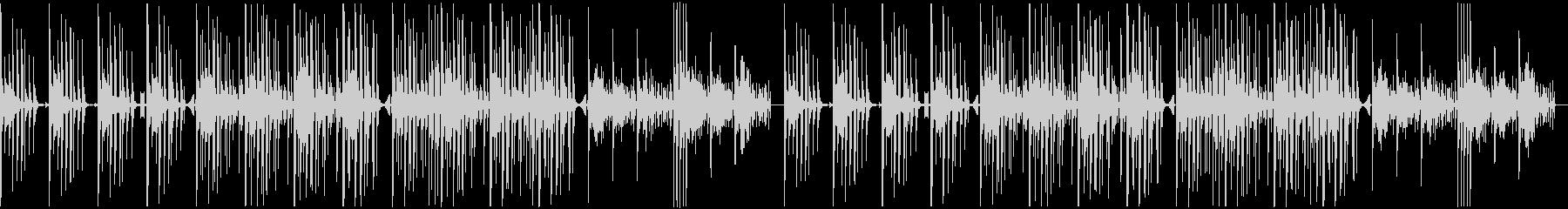 軽快で緊迫感のあるエレクトロBGMの未再生の波形