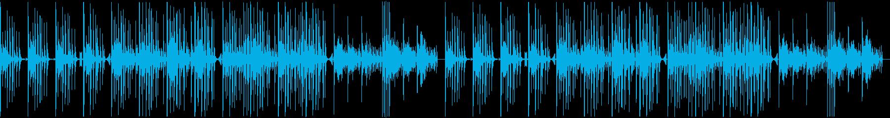 軽快で緊迫感のあるエレクトロBGMの再生済みの波形