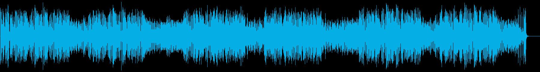 テンポ速めの「むすんでひらいて」の再生済みの波形