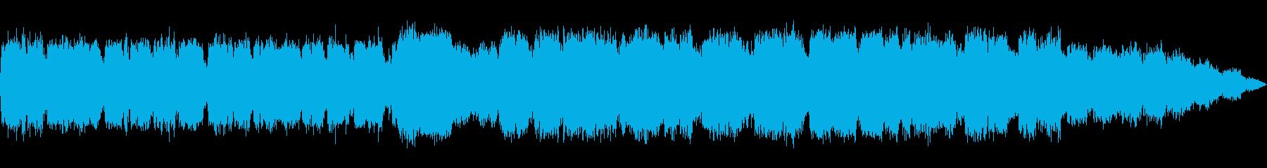 優しい笛のヒーリング音楽の再生済みの波形