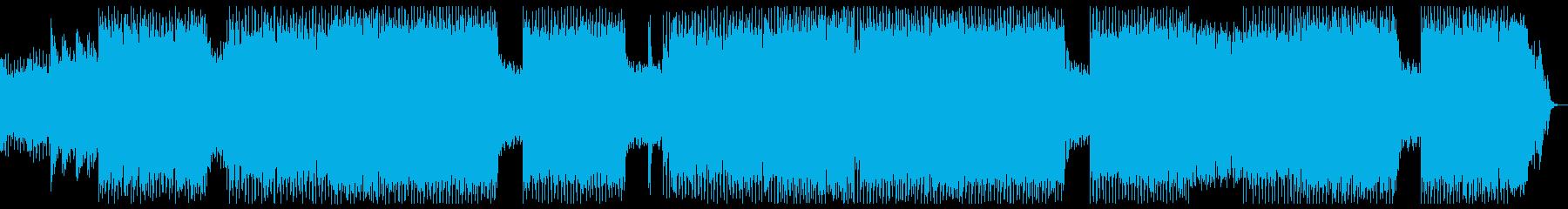 壮大なオーケストラのハロウィン曲の再生済みの波形