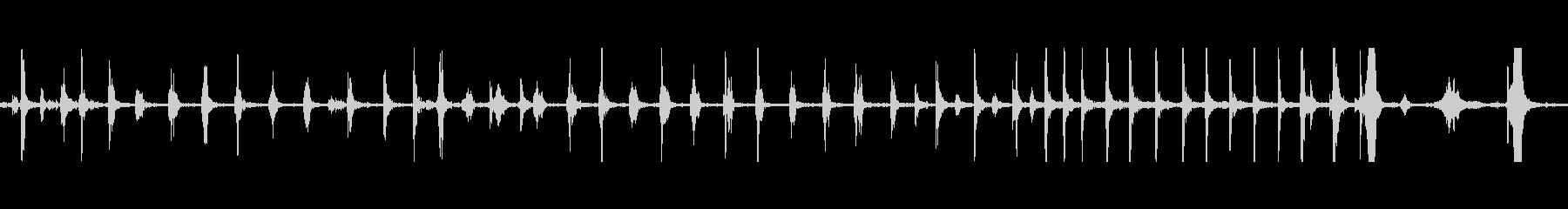 足音スニーカースキークの未再生の波形