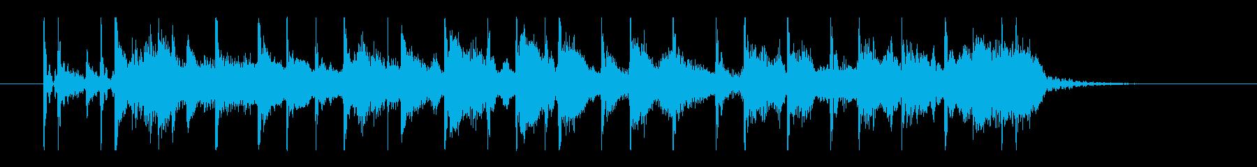 80's ニューウェイブ風シンセサウンドの再生済みの波形