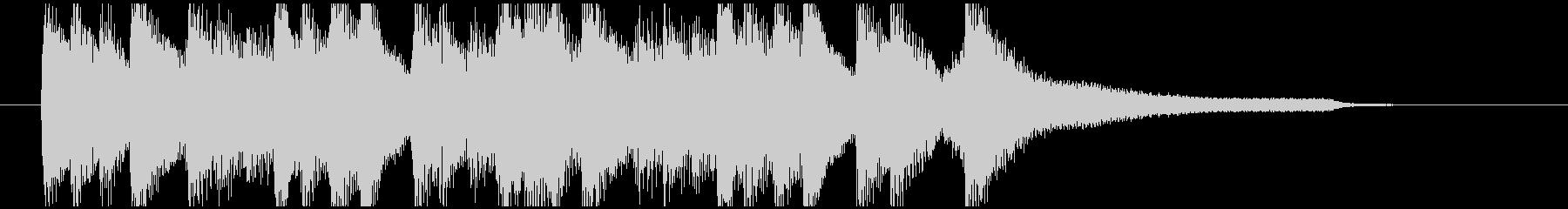 フワフワした章の区切りのピアノフレーズの未再生の波形