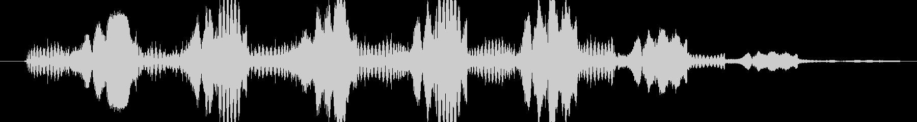 シンセ ショットテクノウォブルロー03の未再生の波形