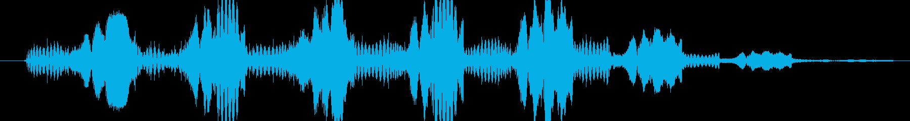 シンセ ショットテクノウォブルロー03の再生済みの波形