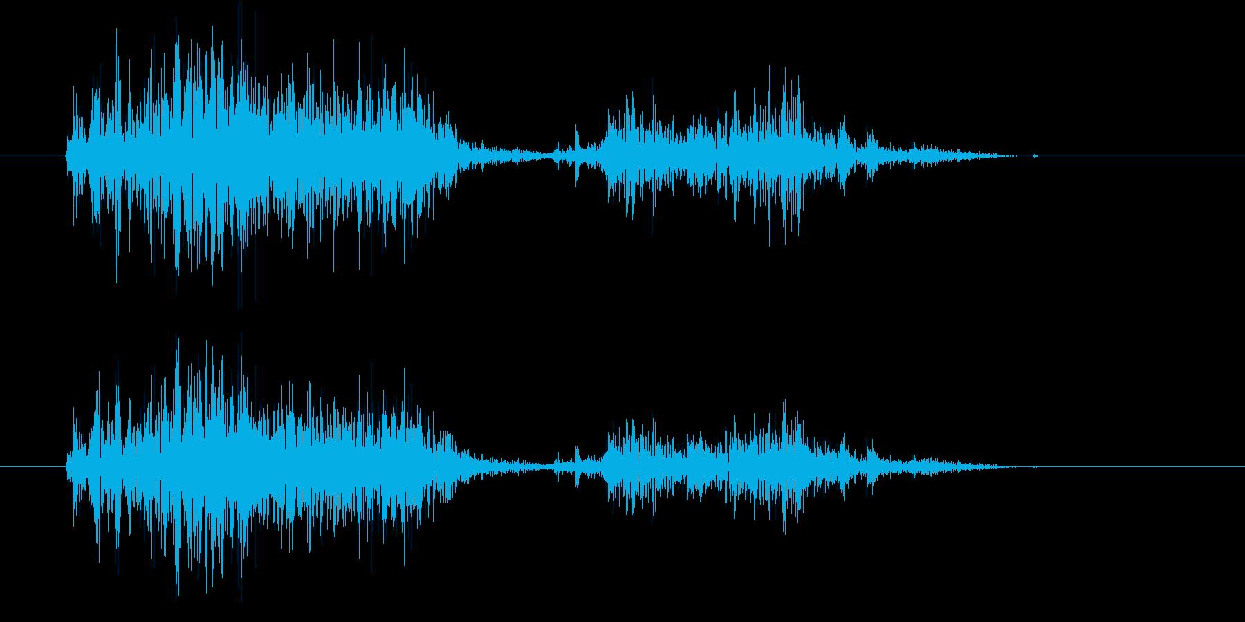 【生録音】スコップでザクッと掘る音の再生済みの波形