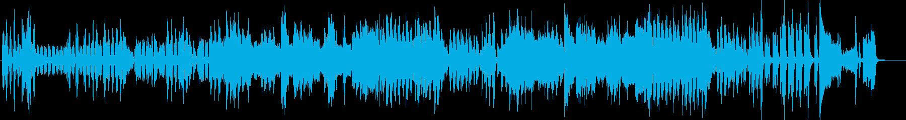 弾むリズム・リコーダーとピアノ・打楽器無の再生済みの波形