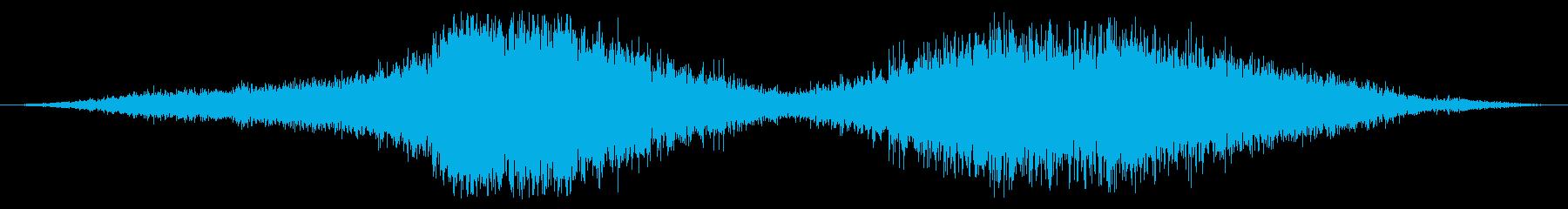 内線:左から右へ高速で渡すの再生済みの波形