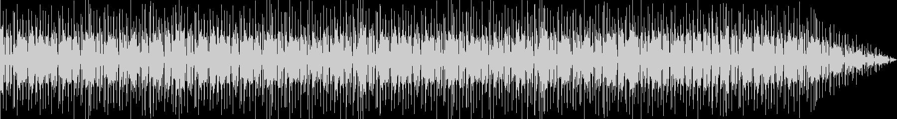 スラップベースとドラムのリズム楽曲の未再生の波形