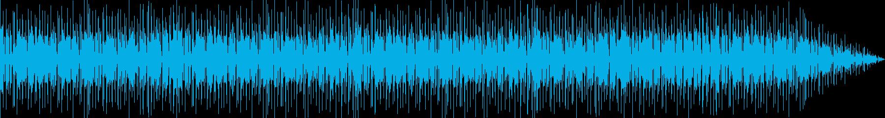 スラップベースとドラムのリズム楽曲の再生済みの波形