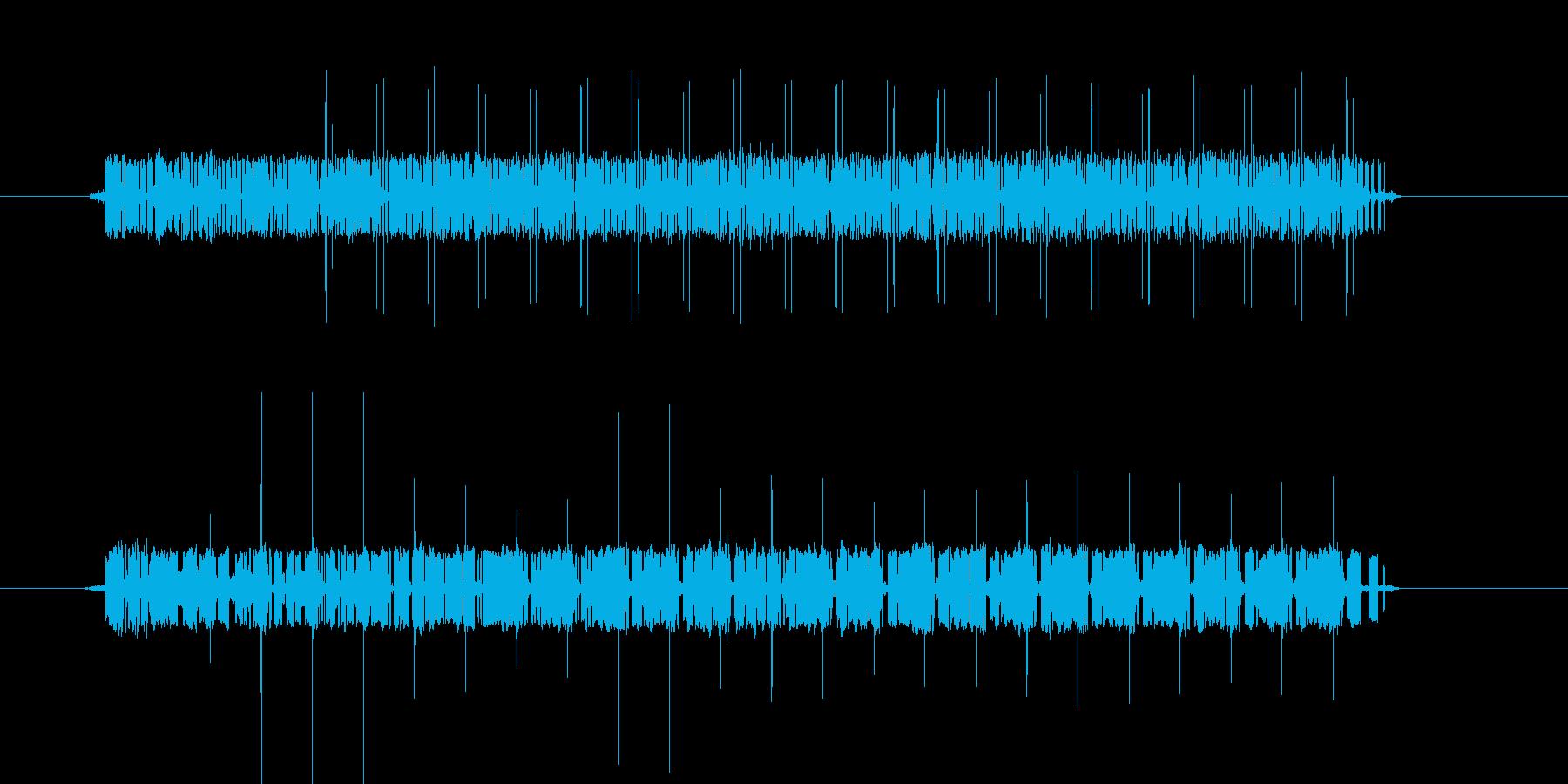 間違い時の機械音/長めの再生済みの波形