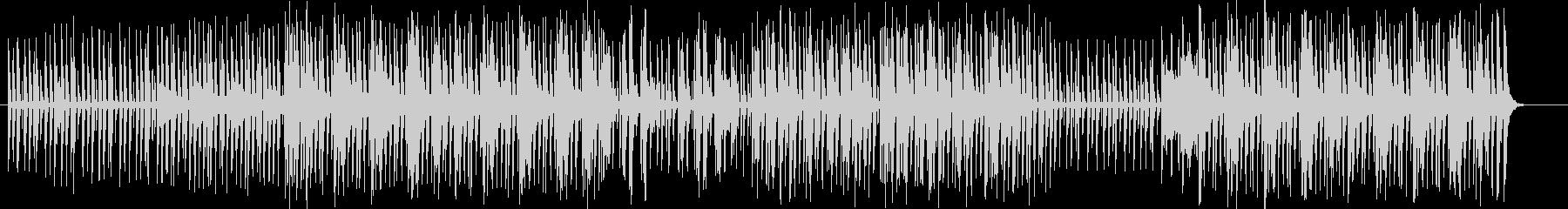 印象的なリズムが特徴的なミュージックの未再生の波形