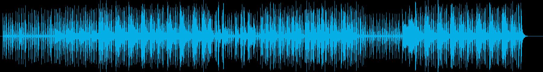 印象的なリズムが特徴的なミュージックの再生済みの波形