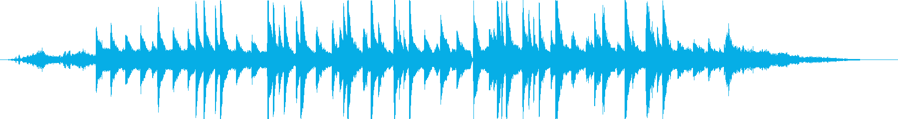 ヒーリングピアノの再生済みの波形