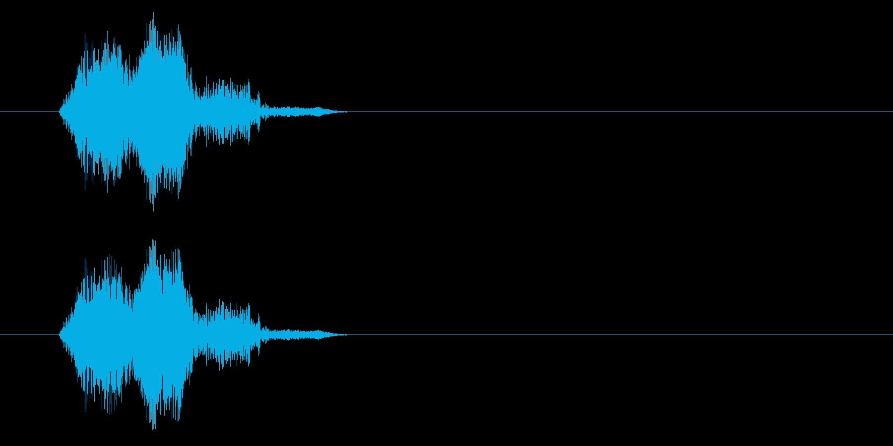 かわいい動作SEの再生済みの波形