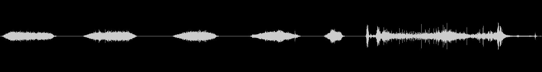 バルーンの膨張と収縮1の未再生の波形