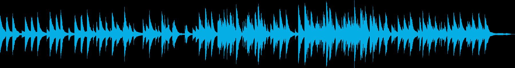睡眠を促す穏やかなピアノアンビエントの再生済みの波形