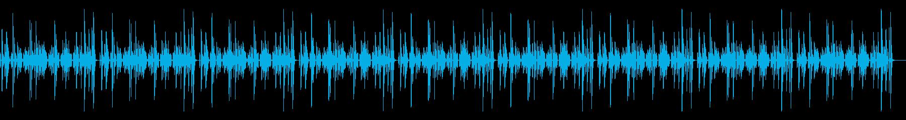 シンプルな作業用のピアノソロBGの再生済みの波形