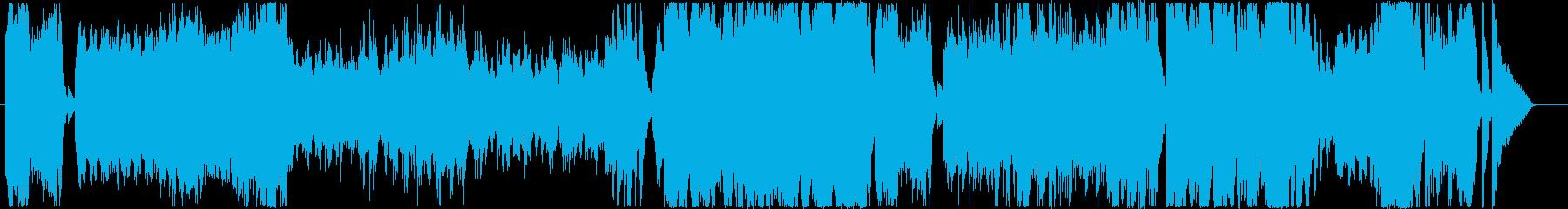 嵐をイメージした激しいピアノ曲の再生済みの波形