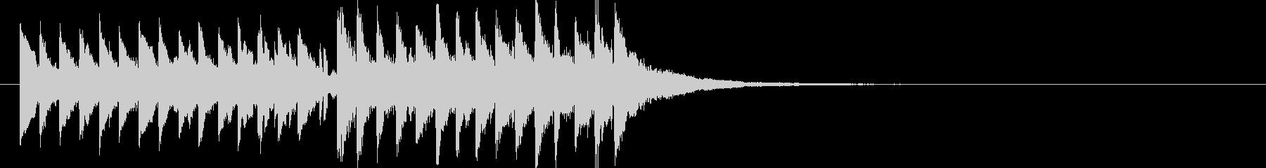 ピコピコ電子音のジングルです。の未再生の波形