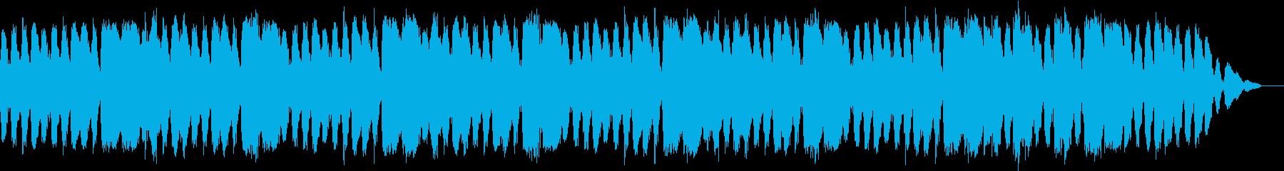 涼し気なサウンドの安らぎ音楽の再生済みの波形