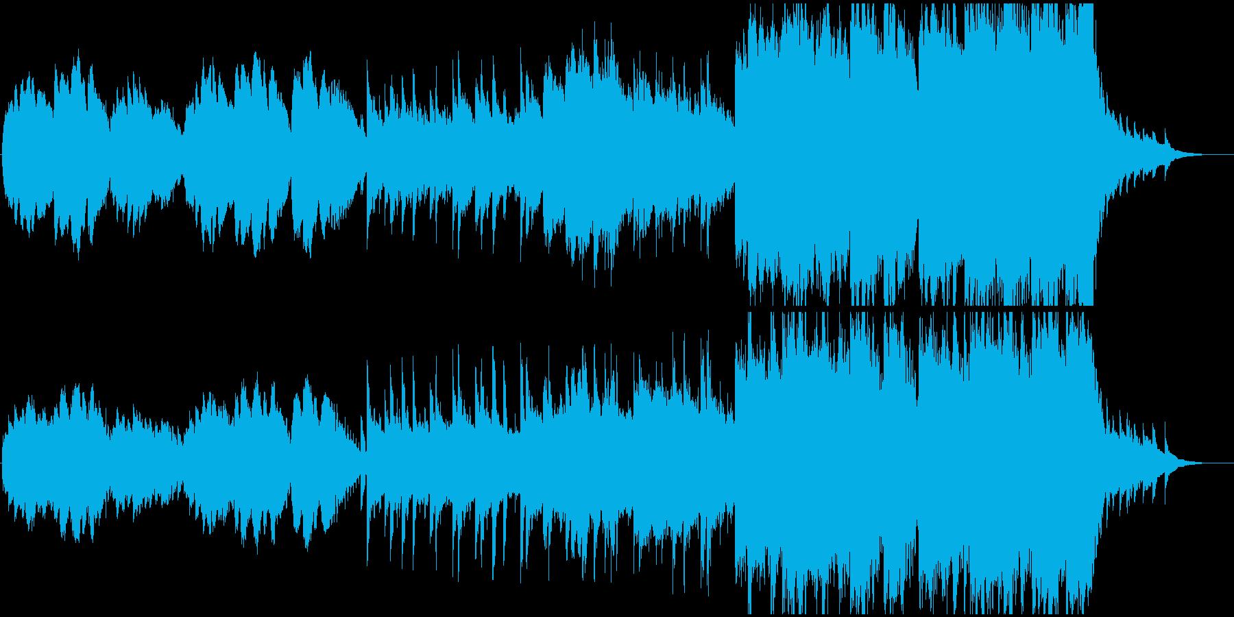 どこか寂しげで情景的なBGMの再生済みの波形