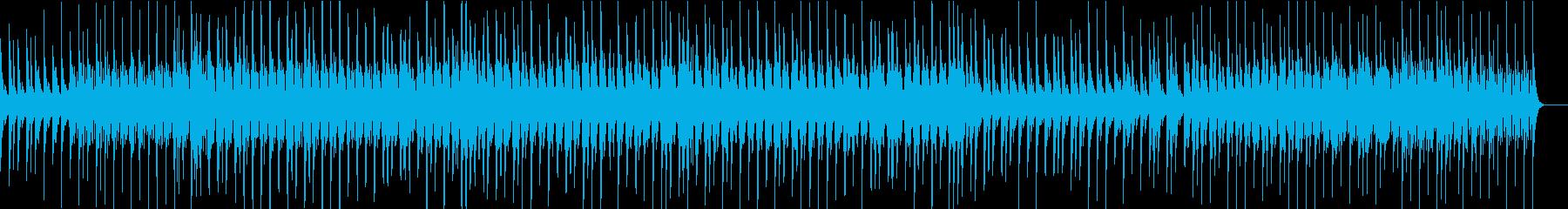 ラテン風リズムの軽やかなジャズの再生済みの波形