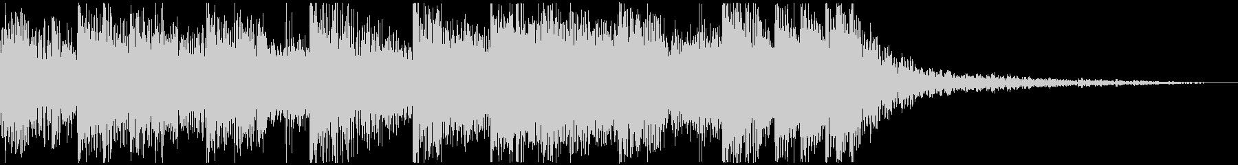 シンセによる宇宙的音色のジングルの未再生の波形