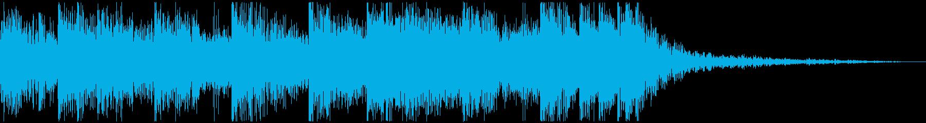 シンセによる宇宙的音色のジングルの再生済みの波形