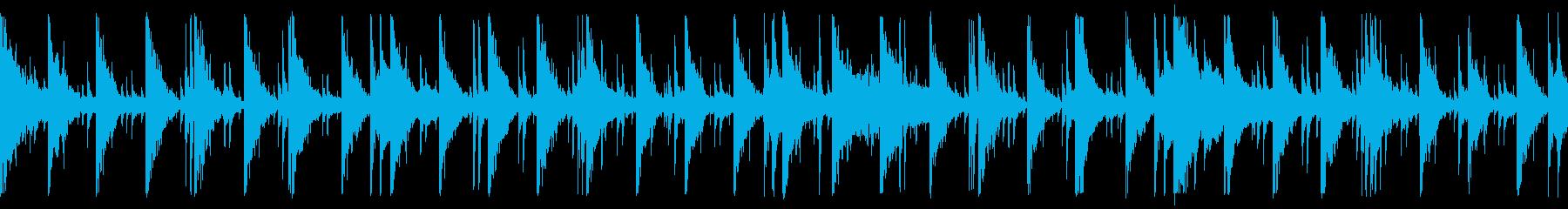 戦国時代の陣幕内の緊張感を表した和太鼓曲の再生済みの波形