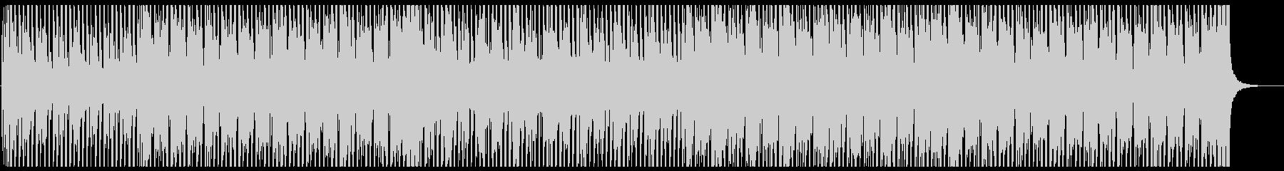 軽快なリズムのファンク・ハウスの未再生の波形