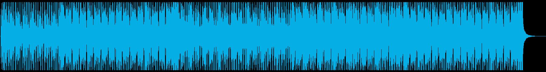 軽快なリズムのファンク・ハウスの再生済みの波形