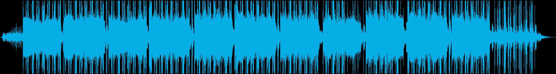 ゆったりした暗めのヒップホップの再生済みの波形