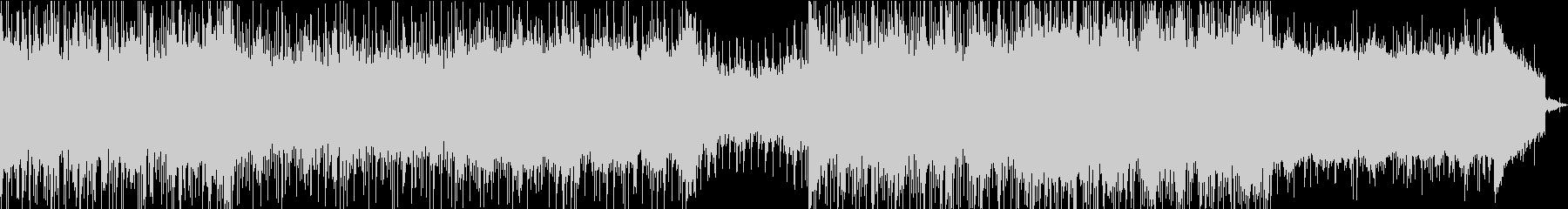 テクノで技術のある曲の未再生の波形